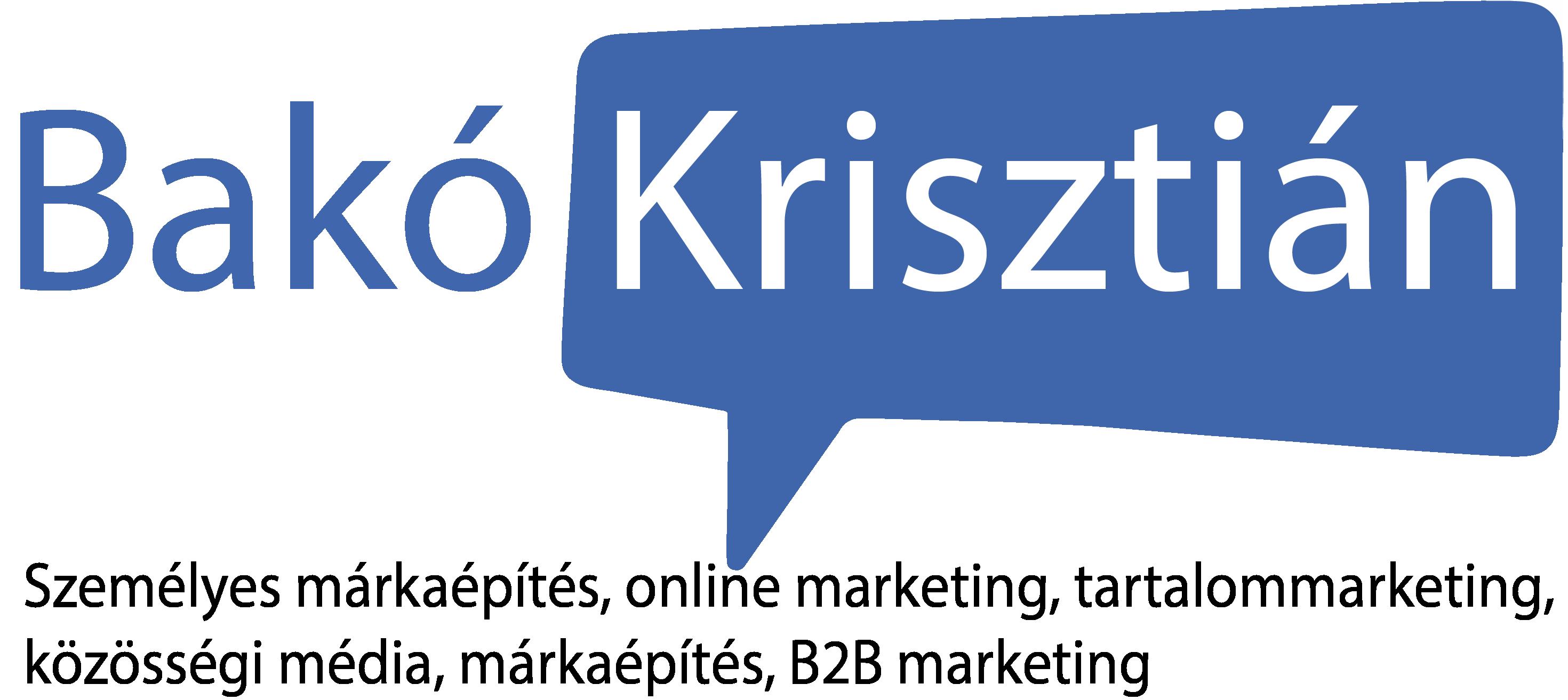 Bakó Krisztián. Marketing
